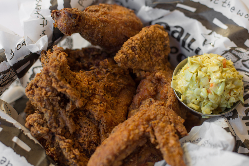 Fried chicken at Zingerman's Roadhouse.
