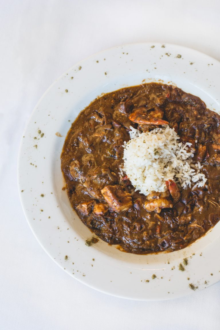 Roadhouse Gumbo with a Scoop of Rice