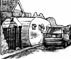 Illustration of car picking up to go food at Zingerman's Roadshow