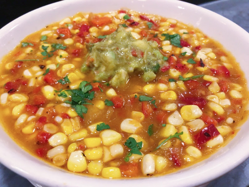 Bowl of Southwestern Vegetable Soup at the Roadhouse.