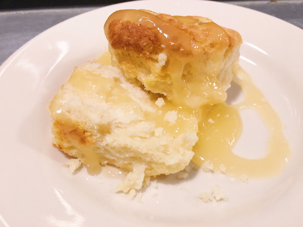 Buttermilk smothered in honey.