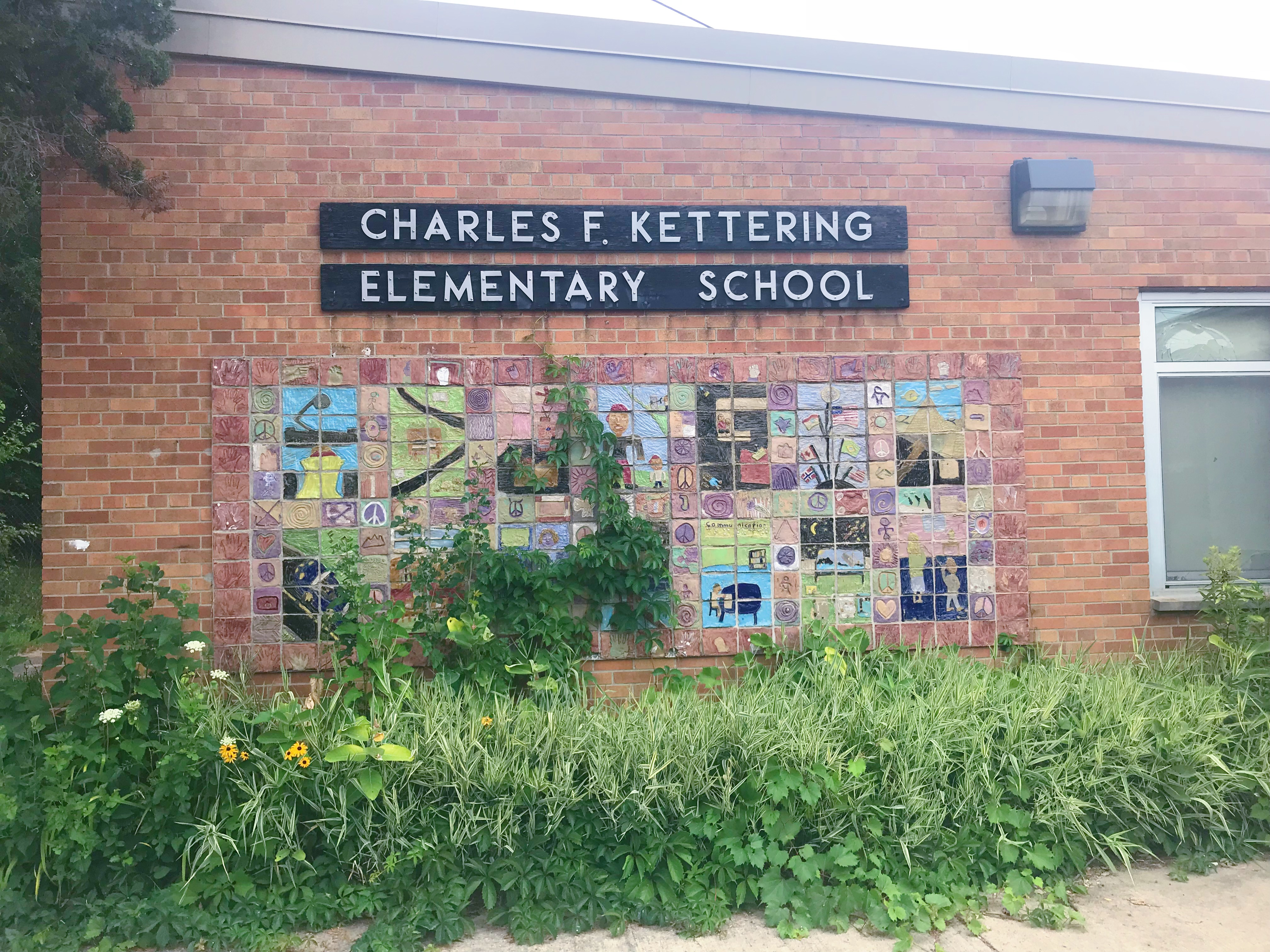 Charles F. Kettering Elementary School in Ypsilanti, which is condemned and deserted.