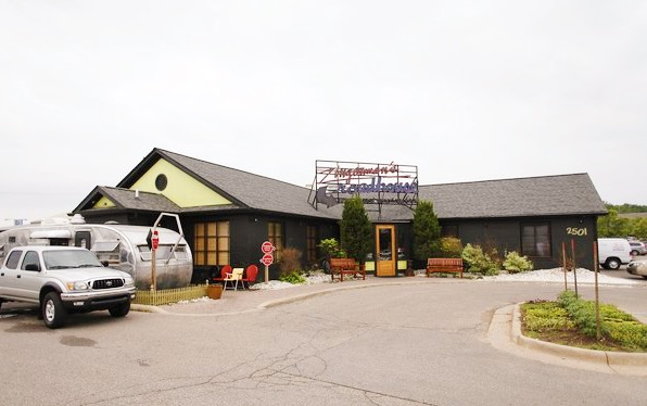 An exterior photo of Zingerman's Roadhouse today.