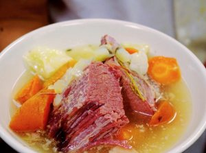 A bowl of Corned Beef and Cabbage at Zingerman's Roadhouse.