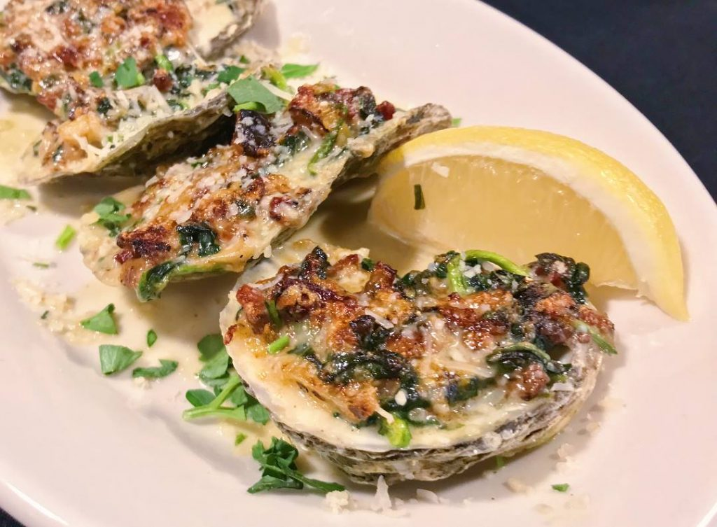 Oysters Rockefeller at the Roadhouse.
