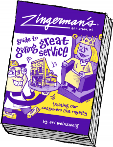 An Illustration of the Zingerman's book Guide to Giving Great Service.