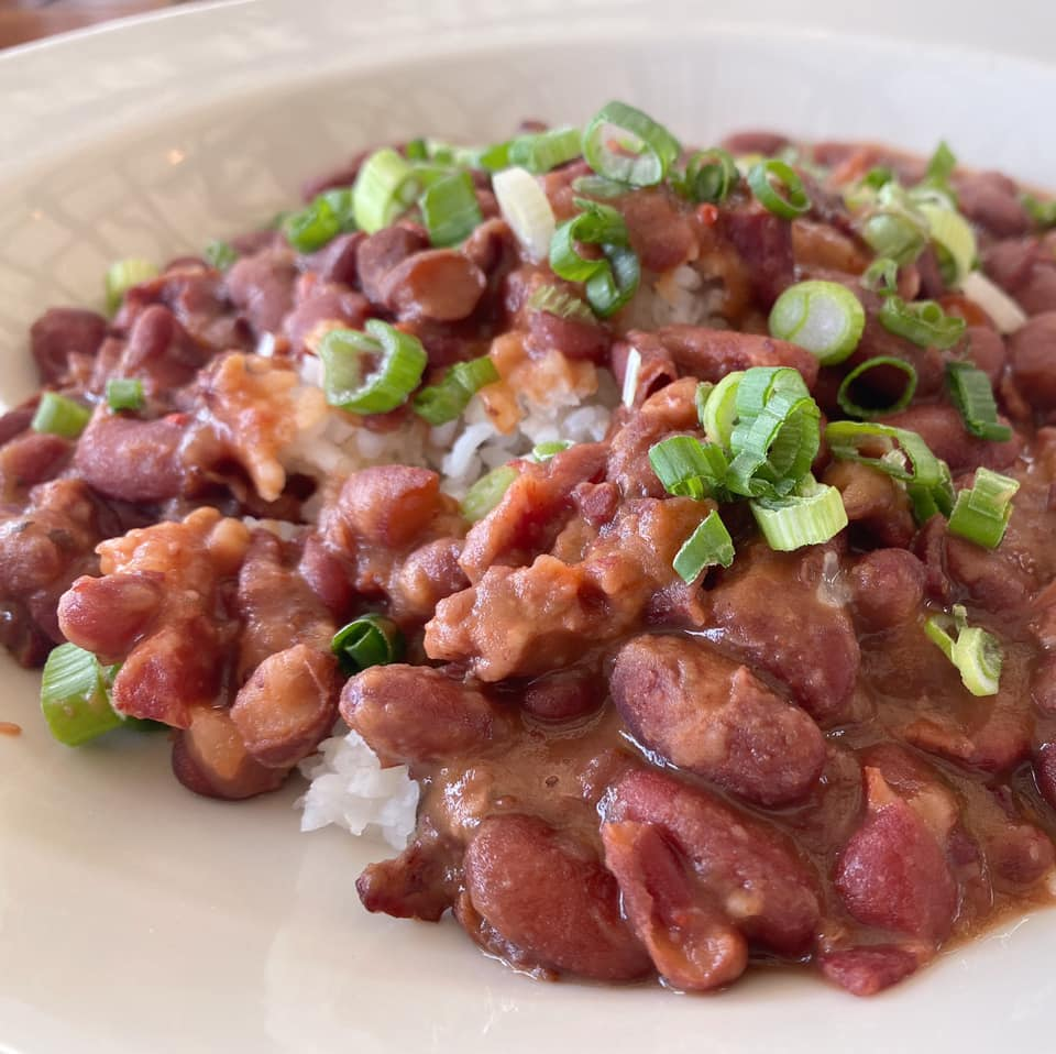 Red beans and rice at the Roadhouse.