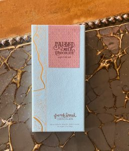 A French Broad Malted Milk chocolate bar at Zingerman's Roadhouse.