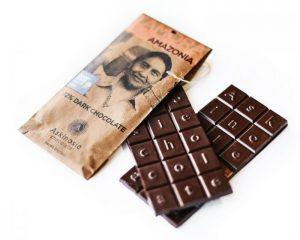 An Askinosie chocolate bar.