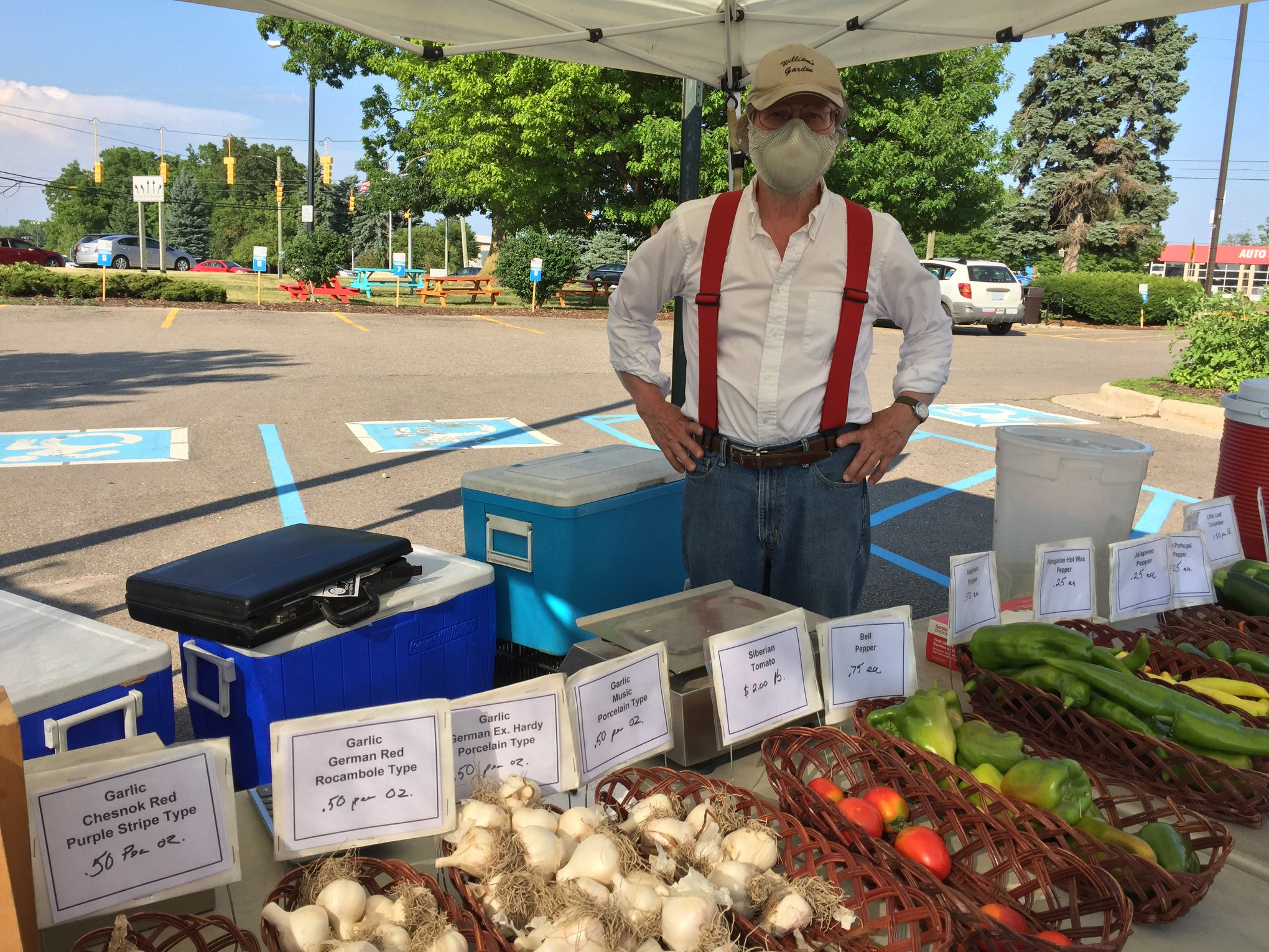 A farmer at the Westside Farmers' Market.