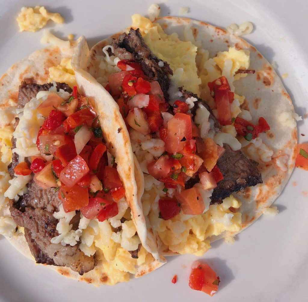 Breakfast tacos at the Roadhouse.