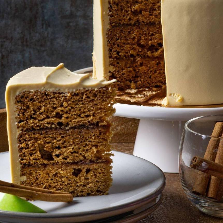 A slice of caramel apple cake from Zingerman's Bakehouse.