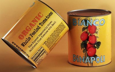 Beautiful Tins of Bianco DiNapoli Tomatoes