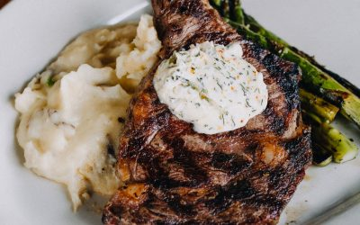 Ribeye Steak with Tarragon Butter at the Roadhouse